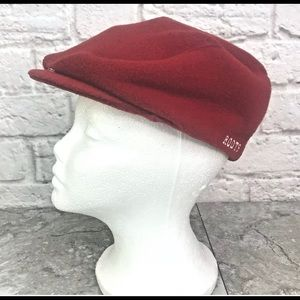 Roots Athletics Beret Red Whistler Canada Cap XL